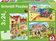 Auf dem Bauernhof. 3 x 24 Teile Puzzle