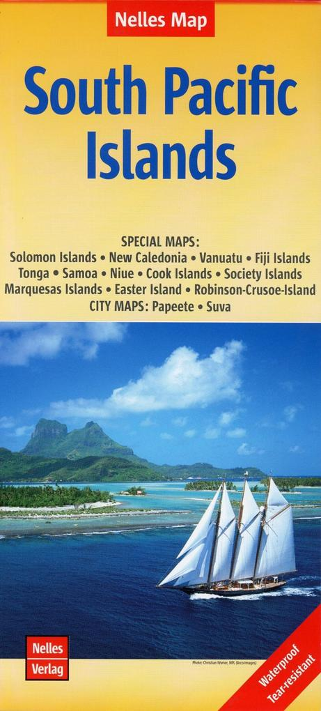 Nelles Map South Pacific Islands 1:13 000 000 a...