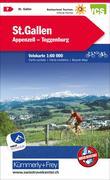 Radwanderkarte St. Gallen - Appenzell - Toggenburg mit Ortsindex (7)