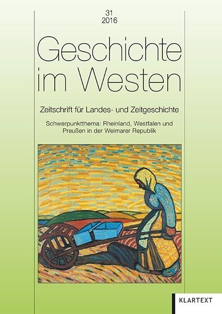 Geschichte im Westen 31/2016 als Buch von