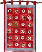 Stoff-Adventskalender zum Befüllen - Nostalgische Adventszeit