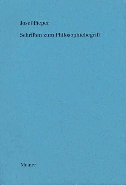 Schriften zum Philosophiebegriff als Buch