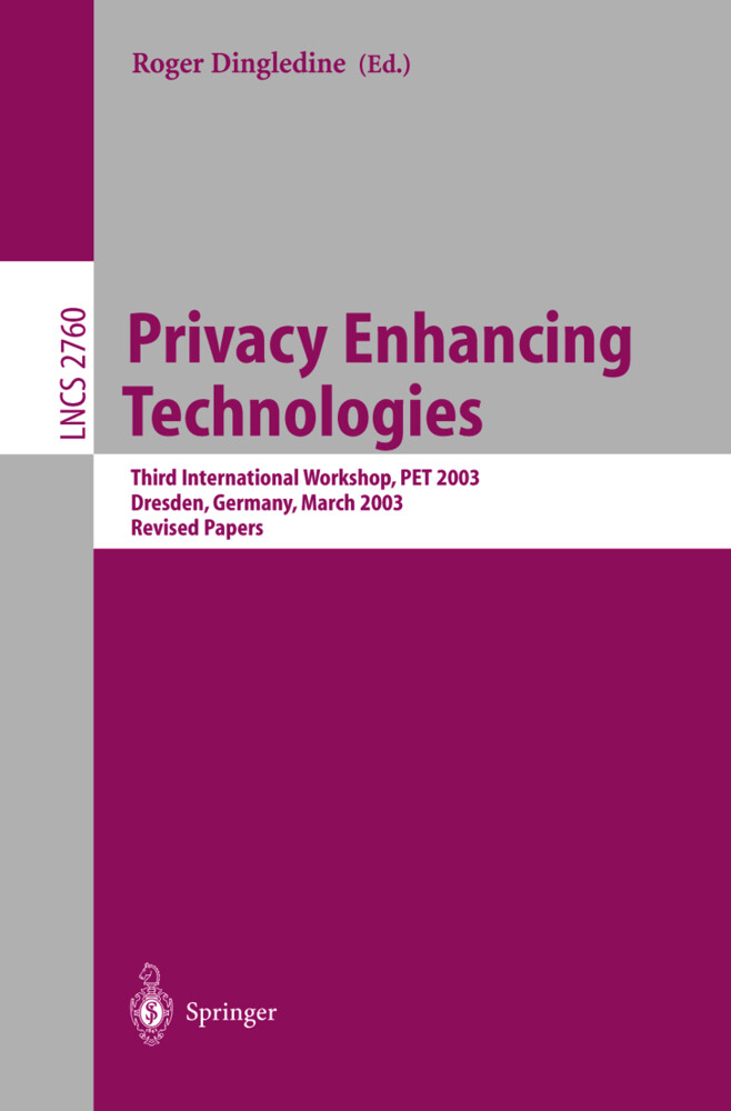 Privacy Enhancing Technologies als Buch