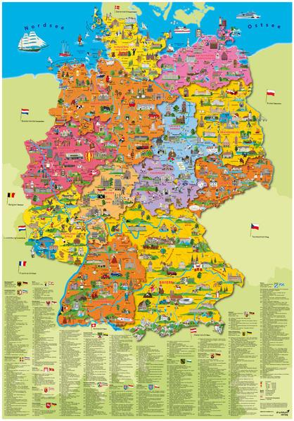 Deutschland politisch Poster als Buch von