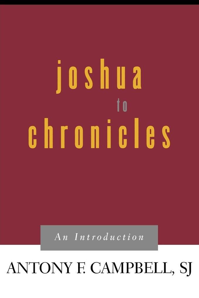 Joshua to Chronicles als Taschenbuch