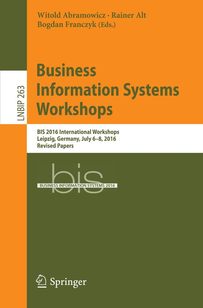 Business Information Systems Workshops als Buch...