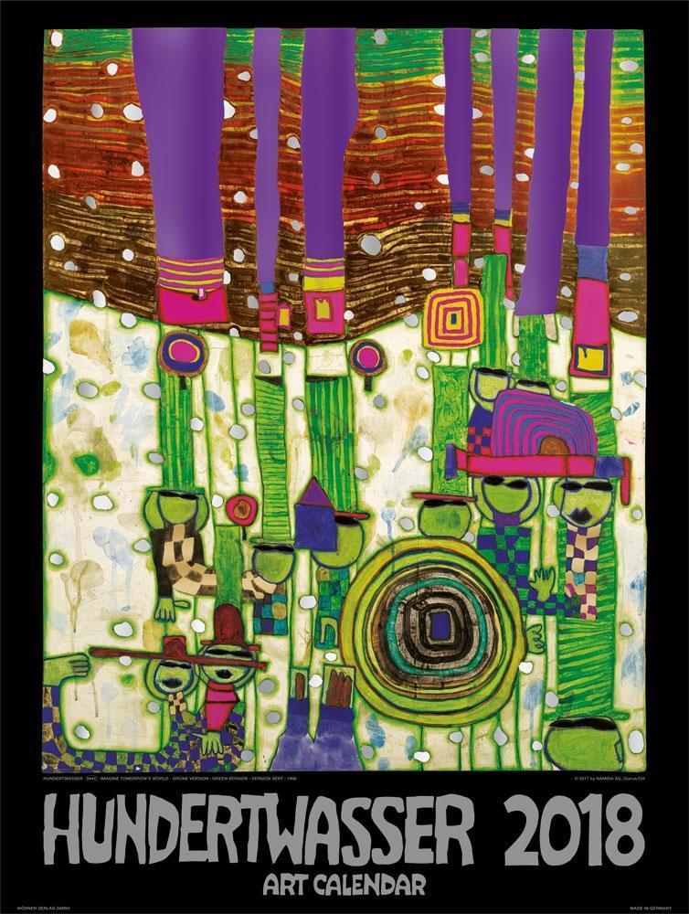 Großer Hundertwasser Art Calendar 2018