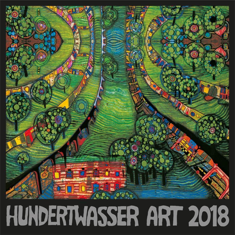 Hundertwasser Broschürenkalender Art 2018
