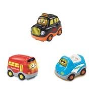 VTech - Tut Tut Baby Flitzer - 3-er Set Reisefahrzeuge Taxi, Reisebus, Cabrio