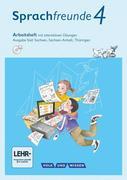Sprachfreunde 4. Schuljahr - Ausgabe Süd (Sachsen, Sachsen-Anhalt, Thüringen) - Arbeitsheft mit interaktiven Übungen auf scook.de