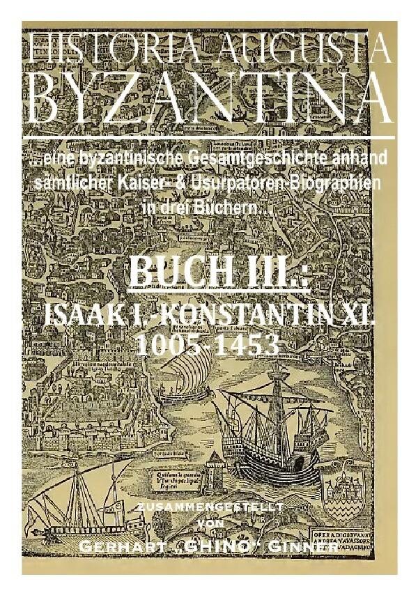 HISTORIA AUGUSTA BYZANTINA Buch III. als Buch (kartoniert)