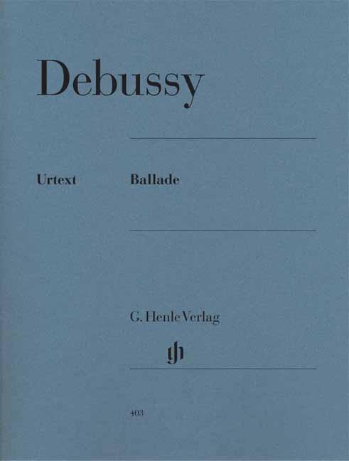 Ballade als Buch von Claude Debussy