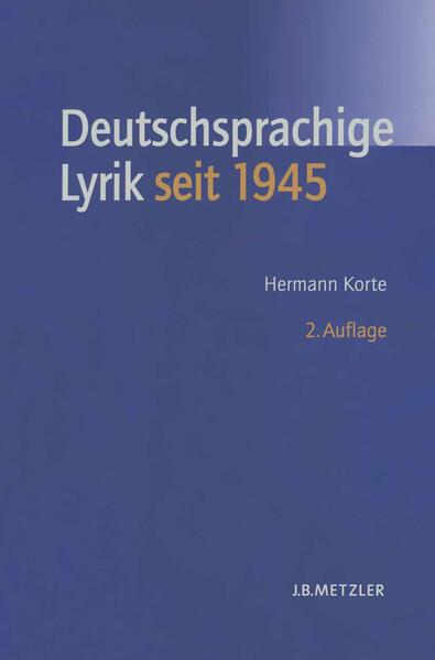 Geschichte der deutschsprachigen Lyrik seit 1945 als Buch