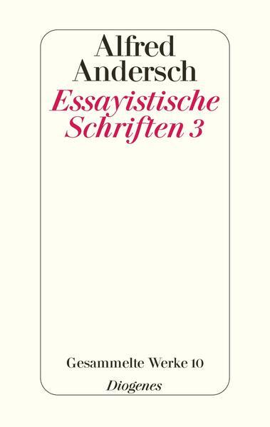 Essayistische Schriften 3 als Buch