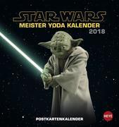 Star Wars - Meister Yoda Postkartenkalender 2018