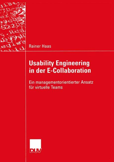 Usability Engineering in der E-Collaboration als Buch