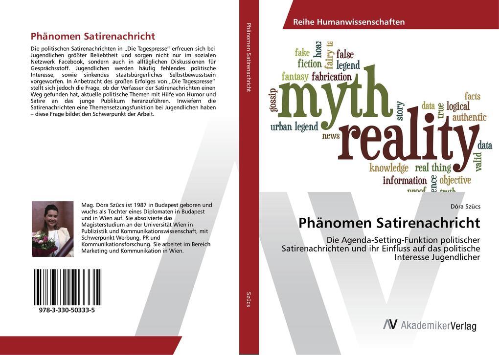 Phänomen Satirenachricht als Buch von Dóra Szücs