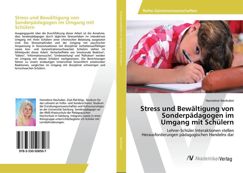 Stress und Bewältigung von Sonderpädagogen im U...
