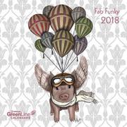 Fab Funky Greenline 30 x 30 Grid Calendar 2018