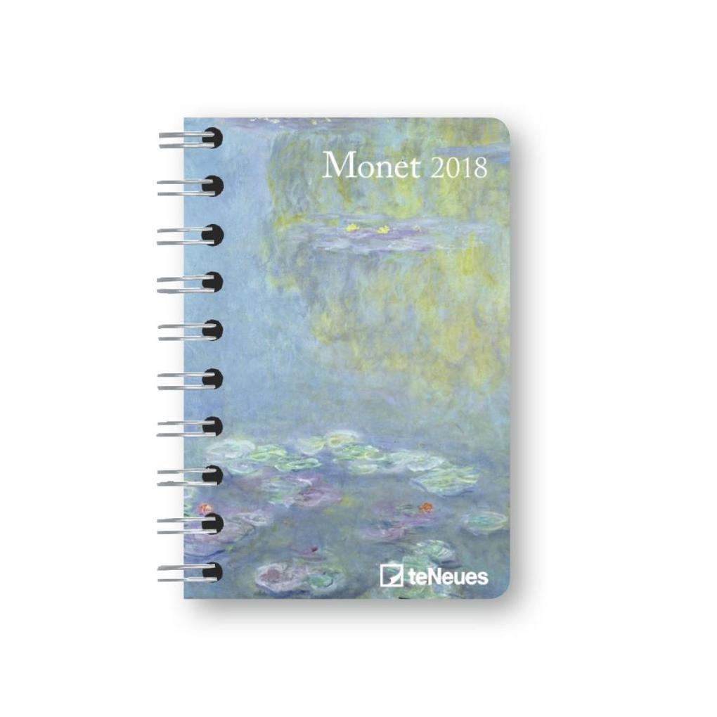 Monet 2018 Taschenkalender Deluxe klein