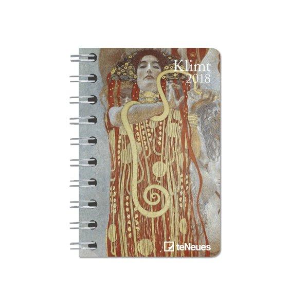 Klimt 2018 Taschenkalender Deluxe klein
