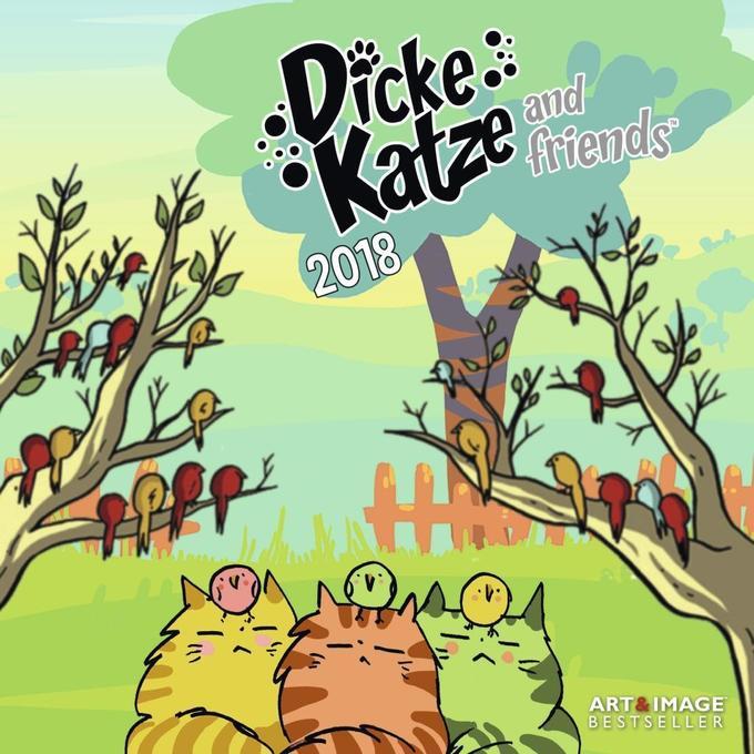 Dicke Katze 2018 Broschürenkalender