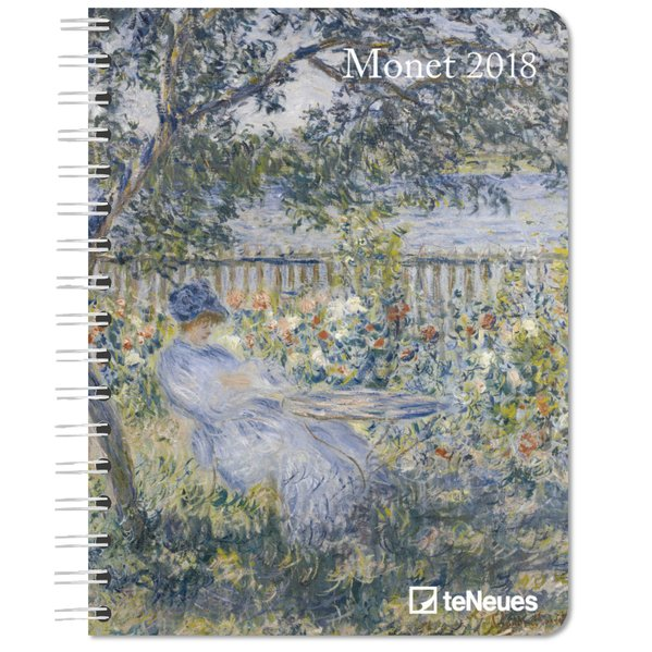 Monet 2018 Buchkalender Deluxe