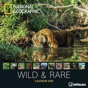 National Geographic Wild & Rare 30 x 30 Grid Calendar 2018