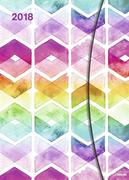 Watercolors 2018 Magneto Diary 16x22