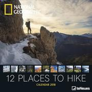 National Geographic 12 Places to Hike 30 x 30 Grid Calendar