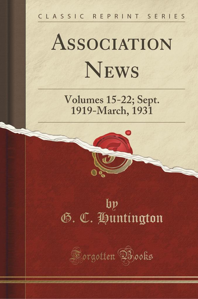 Association News als Taschenbuch von G. C. Hunt...