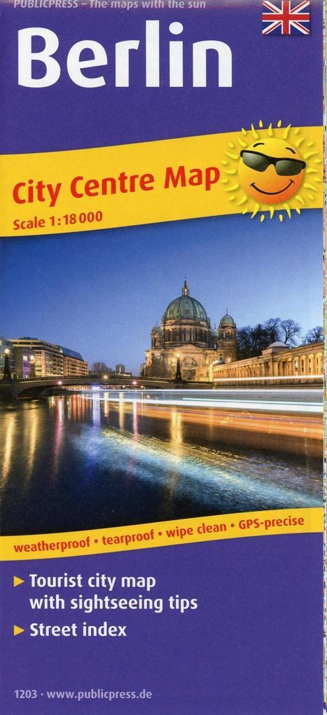 Berlin City Centre Map 1:18 000 als Buch von