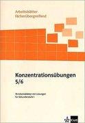 Arbeitsblätter Grundschule. Konzentrationsübungen. 5./6. Schuljahr
