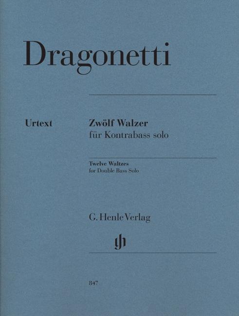 Zwölf Walzer für Kontrabass solo als Buch von D...