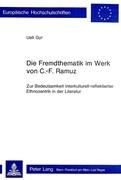 Die Fremdthematik im Werk von C.-F. Ramuz