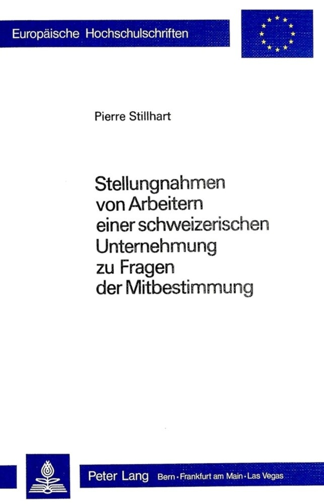 Stellungnahmen von Arbeitern einer schweizerisc...