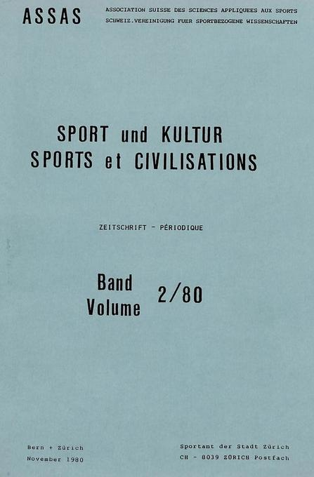 Sport und Kultur / Sports et civilisations als ...