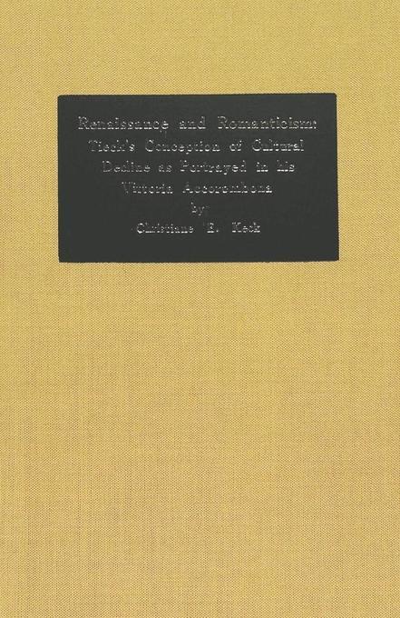 Renaissance and Romanticism: Tieck´s Conception...
