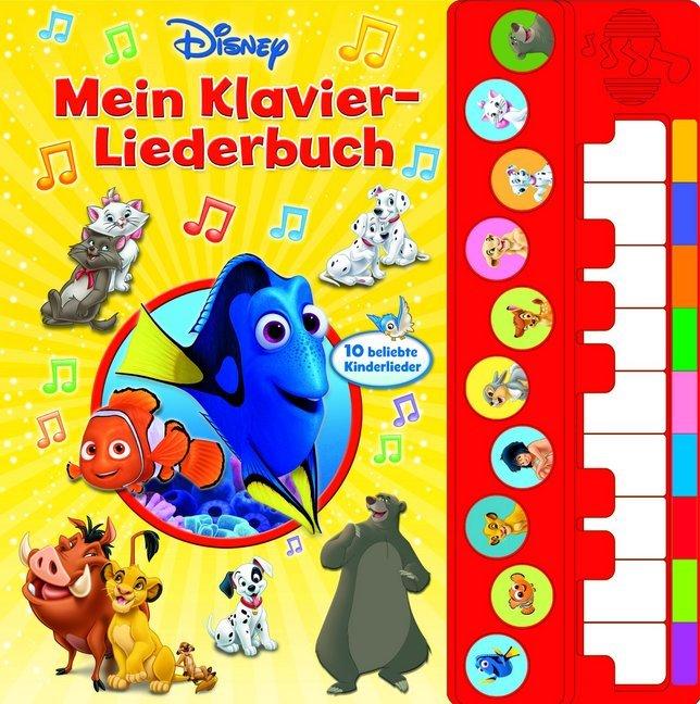 Mein Klavier-Liederbuch - Disney Liederbuch mit Klaviertastatur als Buch