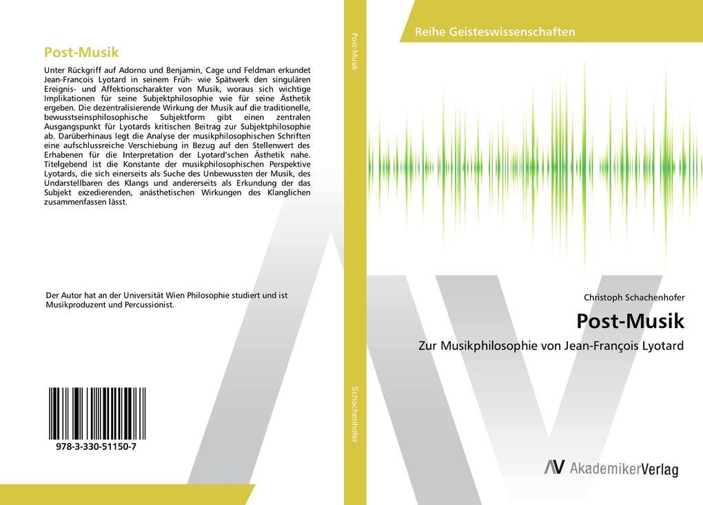 Post-Musik als Buch von Christoph Schachenhofer