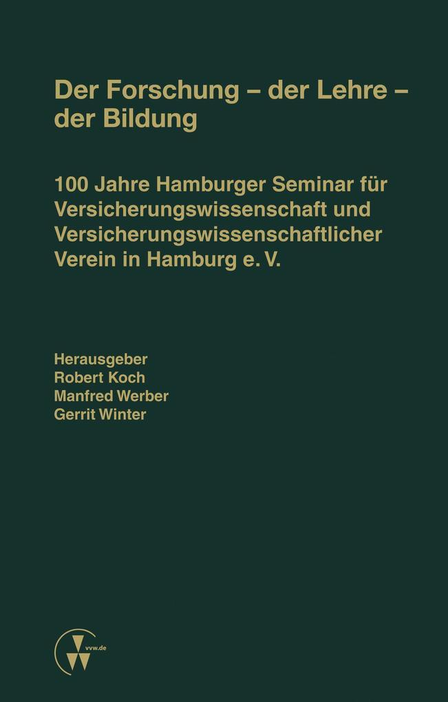 Der Forschung - der Lehre - der Bildung als eBo...
