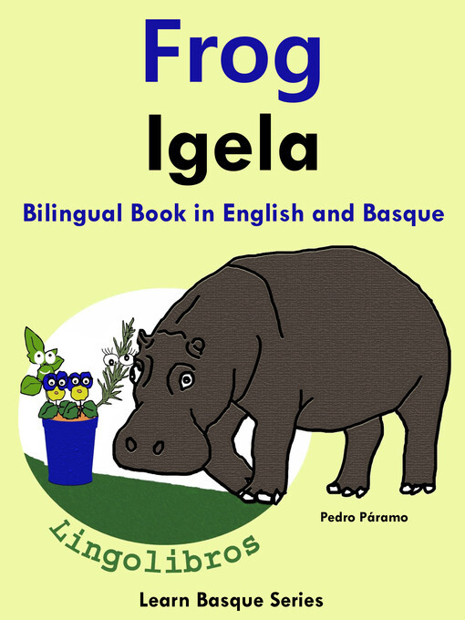Bilingual Book in English and Basque: Frog - Ig...