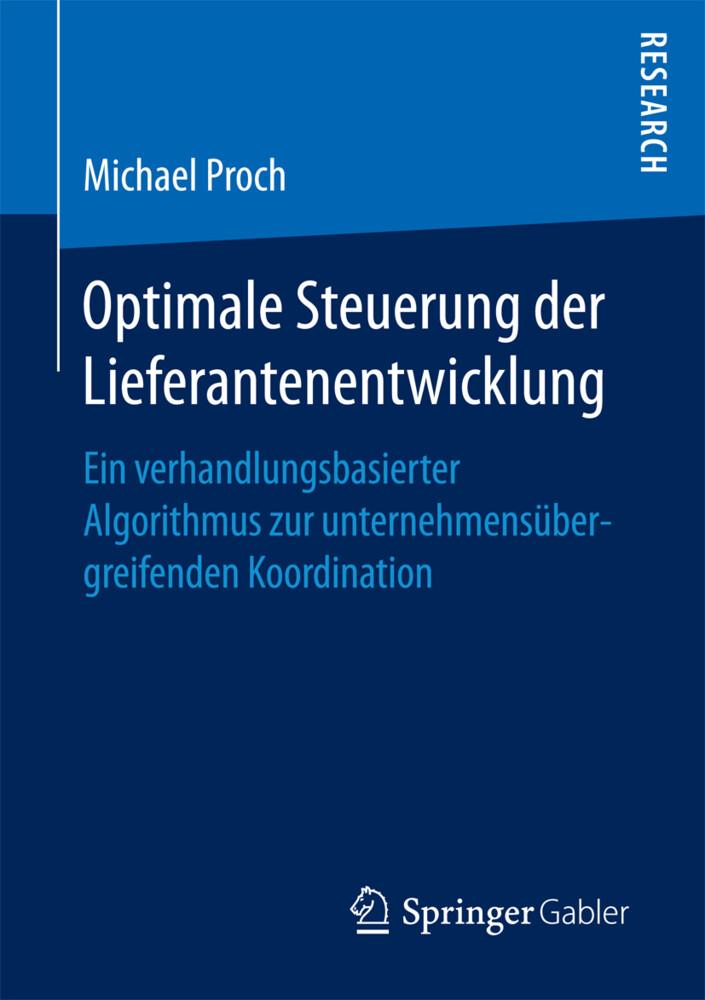 Optimale Steuerung der Lieferantenentwicklung a...