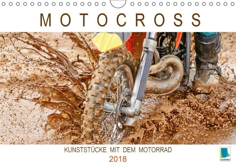Motocross: Kunststücke mit dem Motorrad (Wandka...