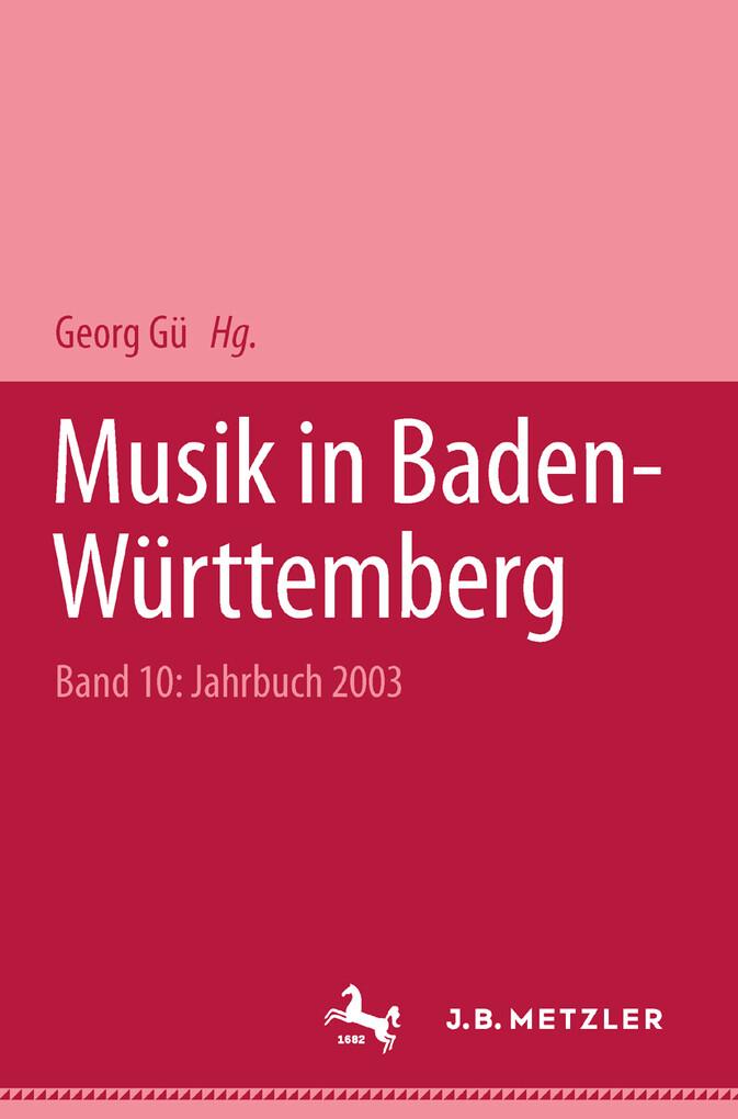Musik in Baden-Württemberg als eBook Download von