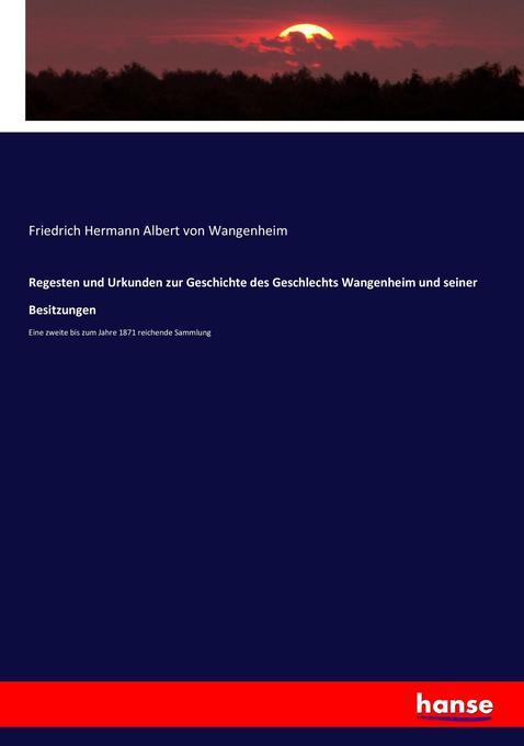Regesten und Urkunden zur Geschichte des Geschl...