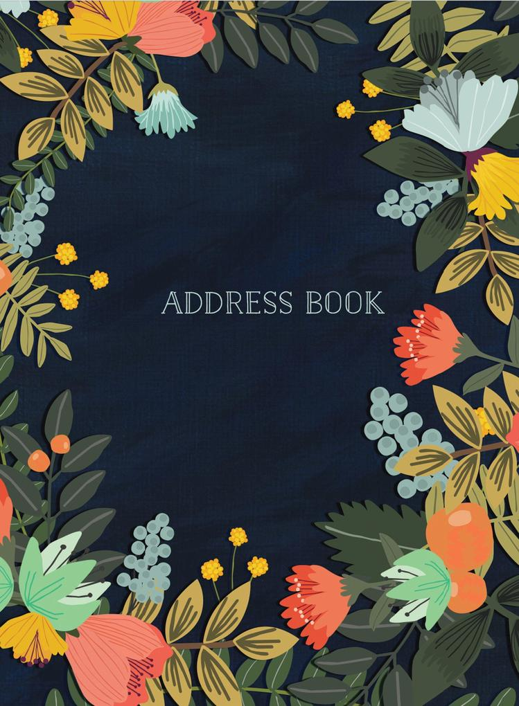 Address Book Modern Floral Large