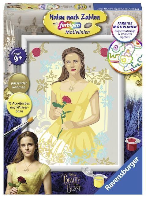 Die Schöne und das Biest - Malen nach Zahlen: Belle als sonstige Artikel