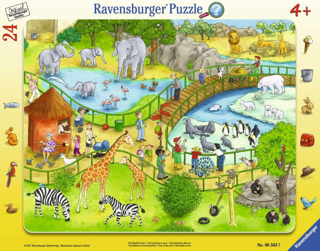 Viel Spaß im Zoo 24 Teile Rahmenpuzzle