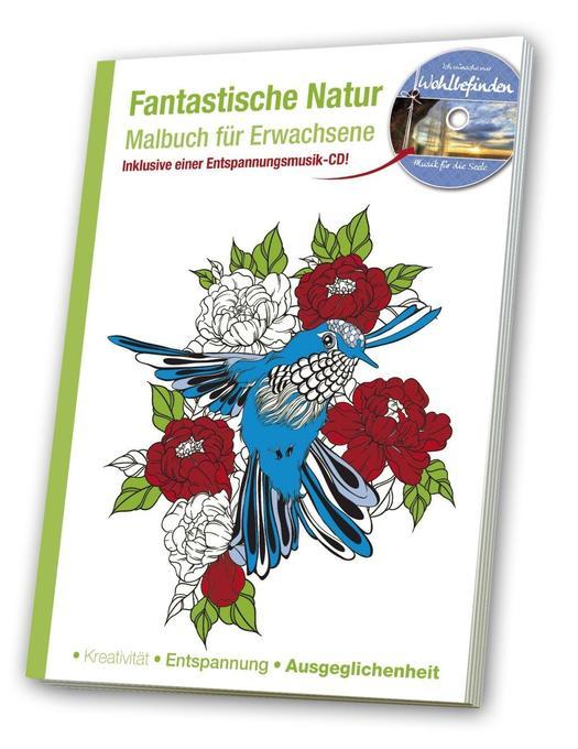 Malbuch für Erwachsene  Fantastische Natur als ...